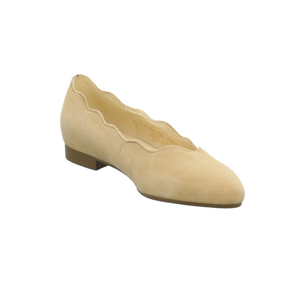Gabor Damen 41-300-12 Beiger Nubukleder Ballerina