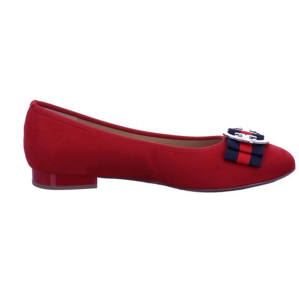 Ara Damen Pisa Roter Textil Ballerina
