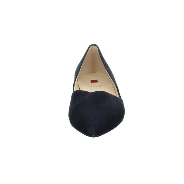 Högl Damen 0-120012-3000 Blauer Veloursleder Ballerina