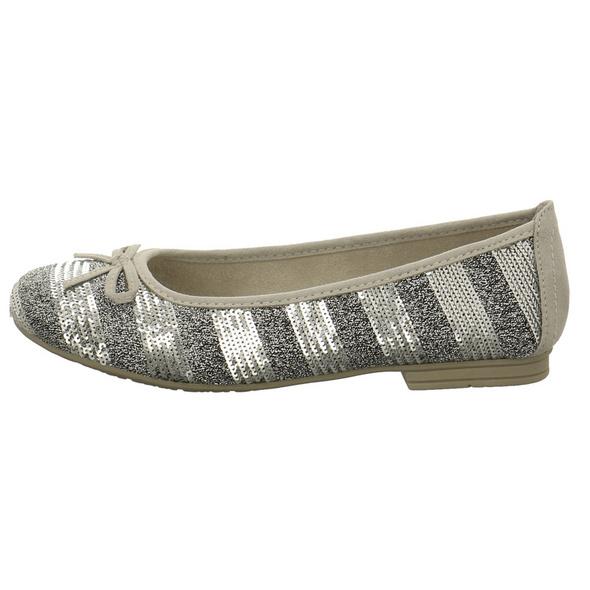 Jana Damen 22162-920 Silberfarbener Synthetik/Textil Ballerina