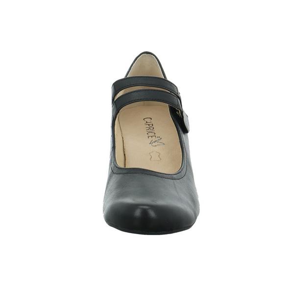 Caprice Damen 24403-022 Schwarze Glattleder Pumps