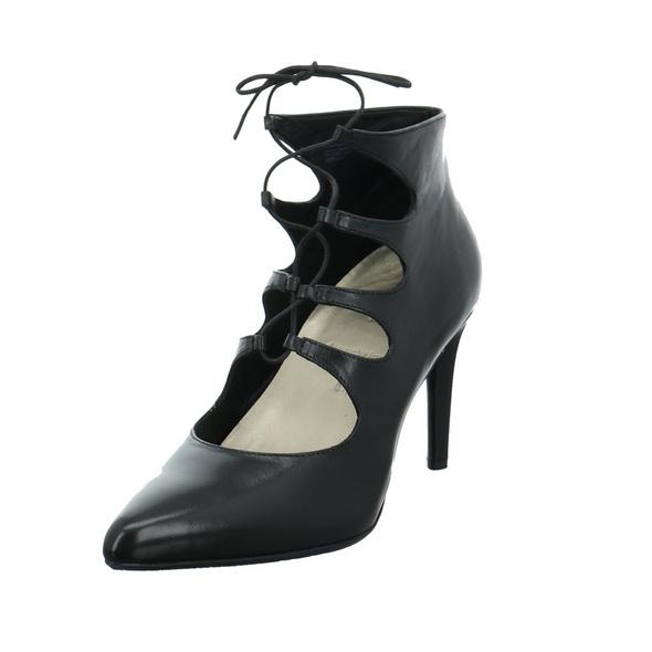 Tizian Damen Mailand Schwarze Glattleder Pumps