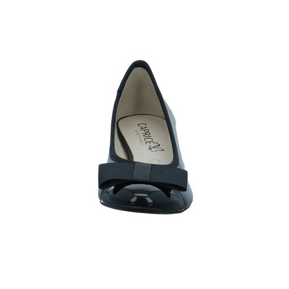 Caprice Damen 22307-019 Schwarzer Leder-/synthetik Pumps