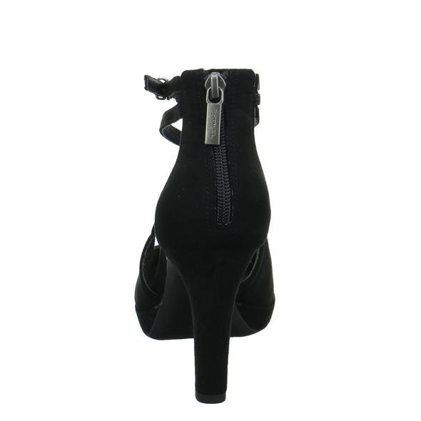 Tamaris Damen 24406-007 Schwarze Textil Pumps
