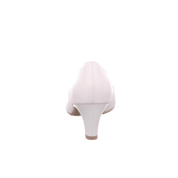 Caprice Damen 22401-102 Weiße Glattleder Pumps
