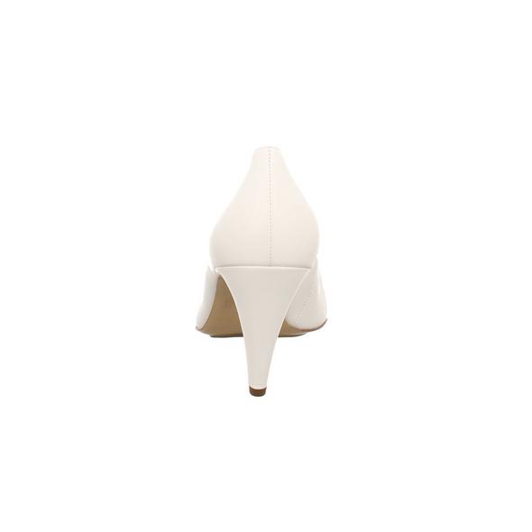 Högl Damen 5-107700-0200 Weiße Glattleder Pumps