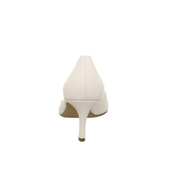Högl Damen 9-106120-0200 Weiße Glattleder Pumps