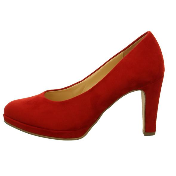 Gabor Damen 31-270-55 Rote Textil Pumps