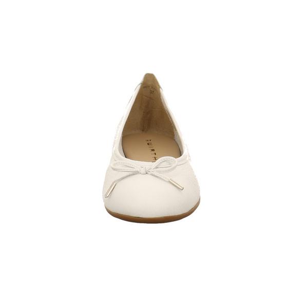 Wirth Damen Gambi Weißer Glattleder Ballerina
