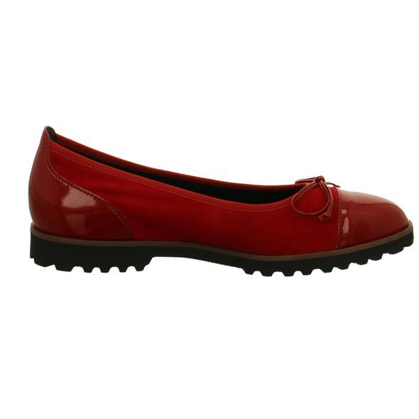 Gabor Damen 34-100-13 Rote Veloursleder/Lackleder Ballerina