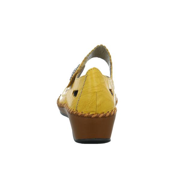 Rieker Damen N1686 Gelber Glattleder Ballerina