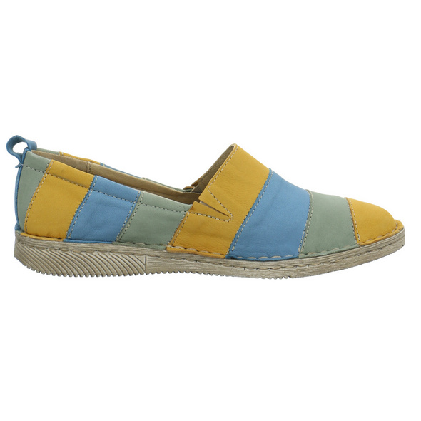 Josef Seibel Damen Sofie 23 Multicolorfarbener Veloursleder Slipper