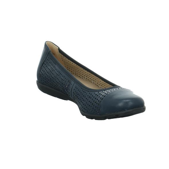 Caprice Damen 22151-876 Blauer Glattleder Ballerina