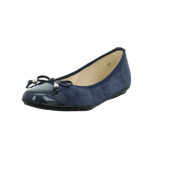 Caprice Damen 22109-880 Blauer Materialkombinierter Ballerina