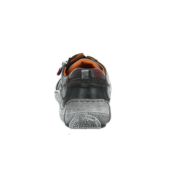 Krisbut Damen 2447-2 Schwarzer Glattleder Sneaker