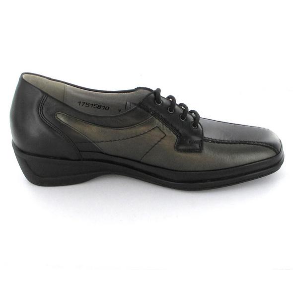 Tizian Damen Locarno 04 Schwarzer Leder/Synthetik Sneaker