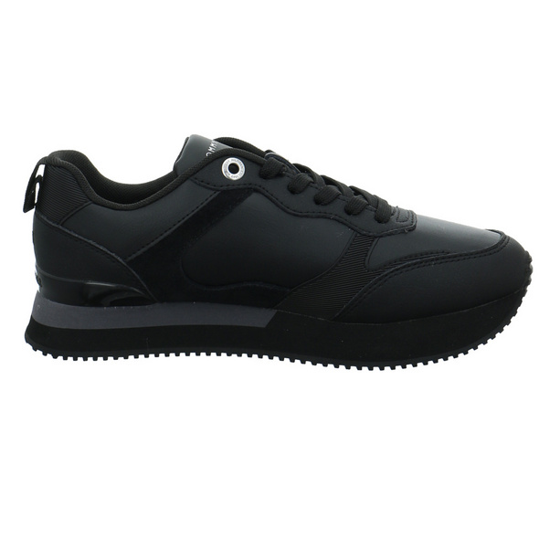 Tommy Hilfiger Damen Feminine Active City Sneaker schwarzer Glattleder Sneaker