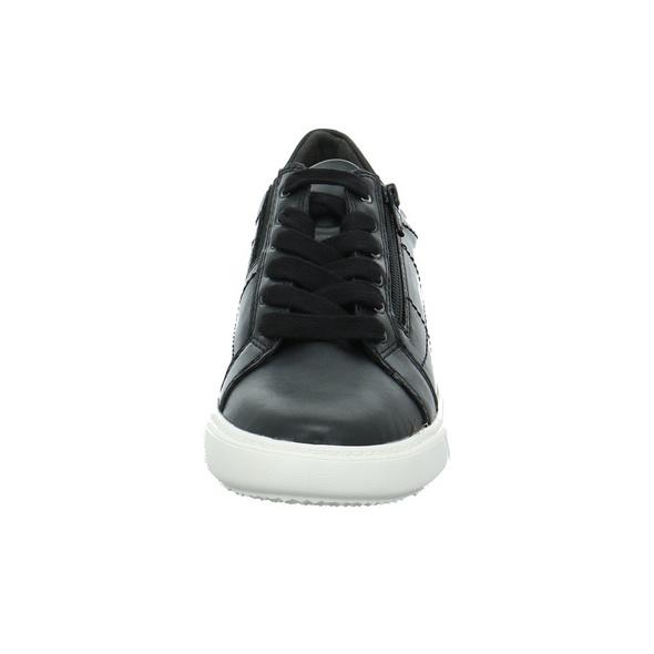 Jana Damen 23762-001 Schwarzer Kunstleder Sneaker