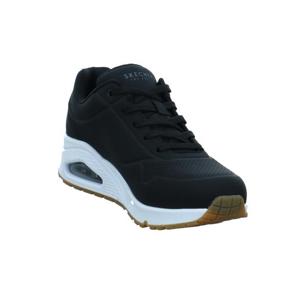 Skechers Damen Uno Stand On Air Schwarze Textil Sneaker