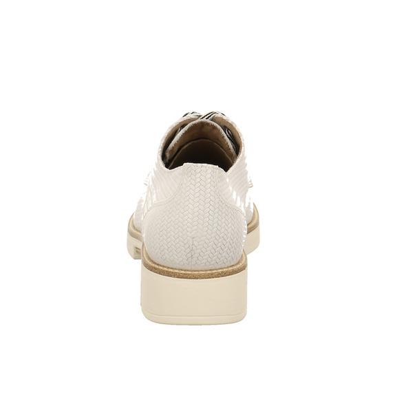 Tamaris Damen 23703-157 Weiße Glattleder Schnürschuhe