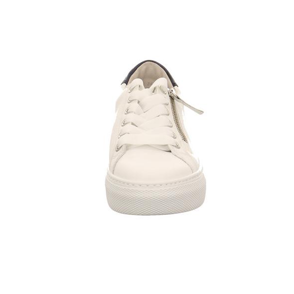 Gabor comfort Damen 66.465.50 Weißer Glattleder Sneaker