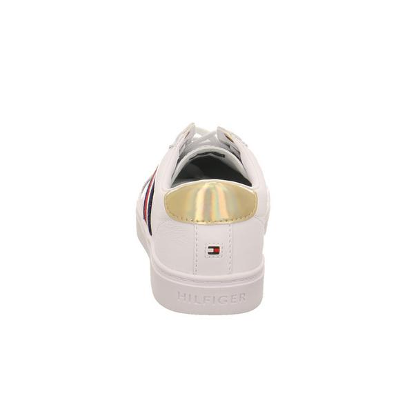 Tommy Hilfiger Damen TH Corporate Cupsole Weißer Leder-/Synthetik Sneaker