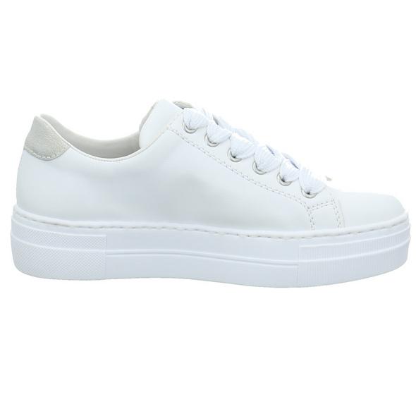 Rieker Damen N4902-81 Weiß Synthetik Sneaker
