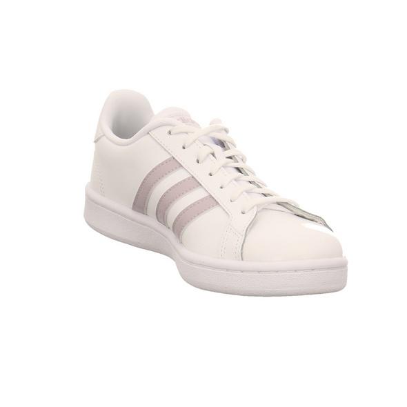 Adidas Damen Grand Court Weißer Leder/Synthetik Sneaker