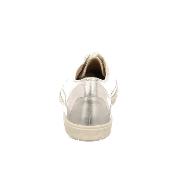 Caprice Damen 23654-122 Weißer LackLeder Schnürschuh