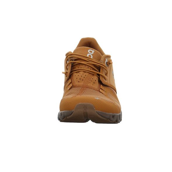 On Damen Cloud Monochrome brauner Textil Sneaker