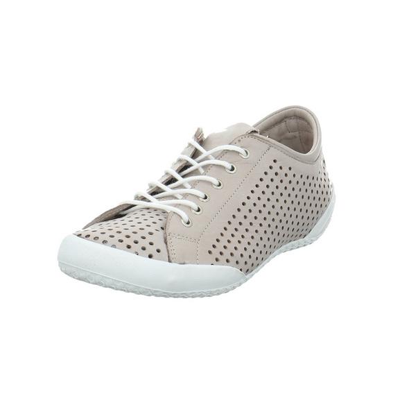 Andrea Conti Damen 0345767-111 Beigefarbene Glattleder Sneaker