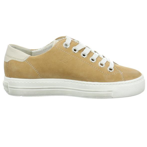 Paul Green Damen 4810-206 Beigefarbene Veloursleder Sneaker