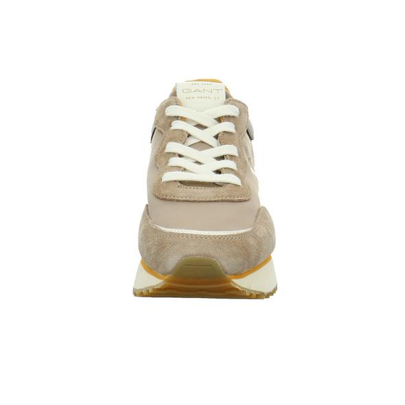 Gant Damen Bevinda Beigefarbener Leder/Textil Sneaker