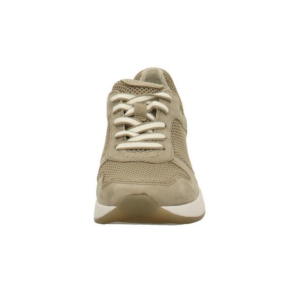 Gabor Damen 26-946-33 Beigefarbene Nubukleder Sneaker