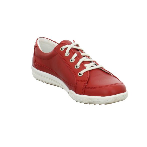 Josef Seibel Damen Dany 63 Rote Glattleder Sneaker