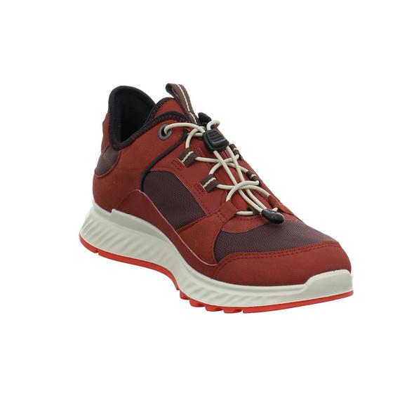 Ecco Damen Exostride W Low GTX Tex Roter Materialkombinierter Sneaker