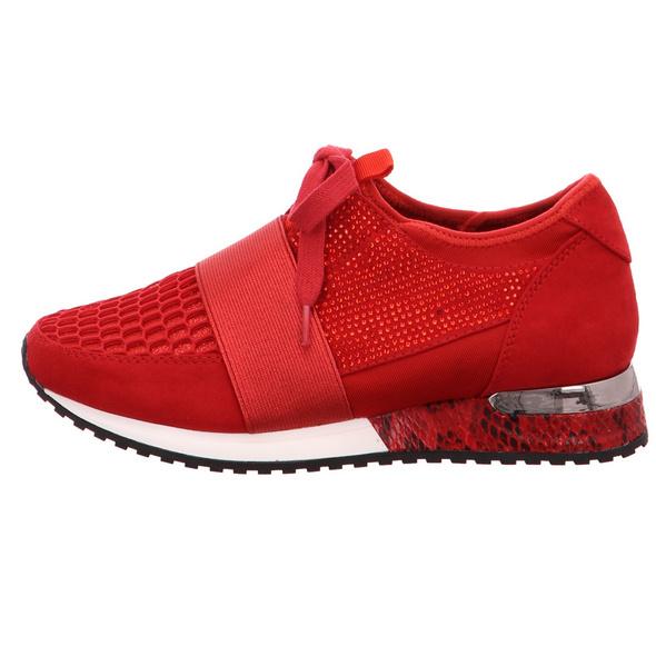 La Strada Damen 1705308-4030 Rote Textil Sneaker