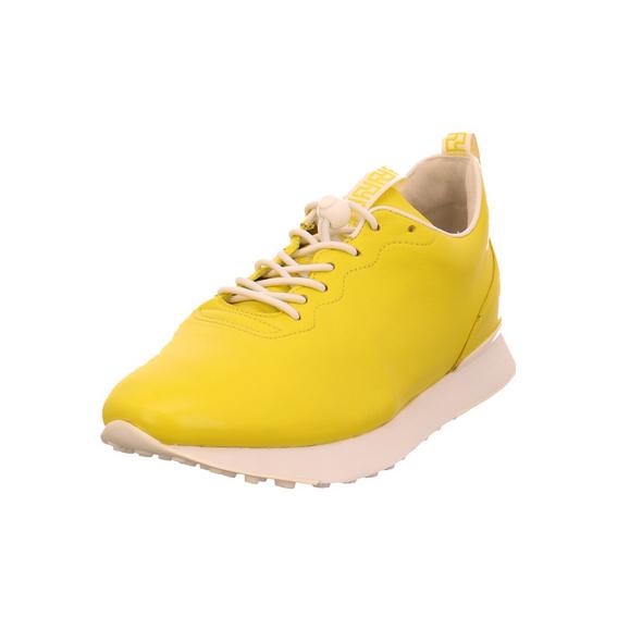 Högl Damen 9-102333-8402 Gelber Glattleder Sneaker