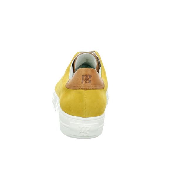 Paul Green Damen 4741-066 Gelber Glattleder/Veloursleder Sneaker
