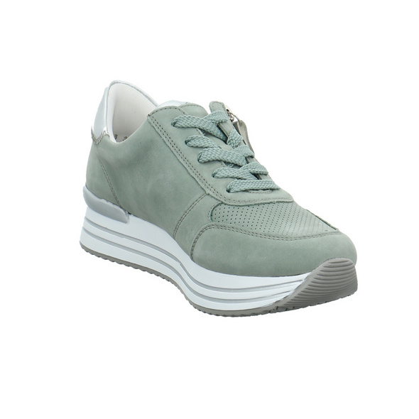 Remonte Damen D1310-52 Grüner Veloursleder Sneaker
