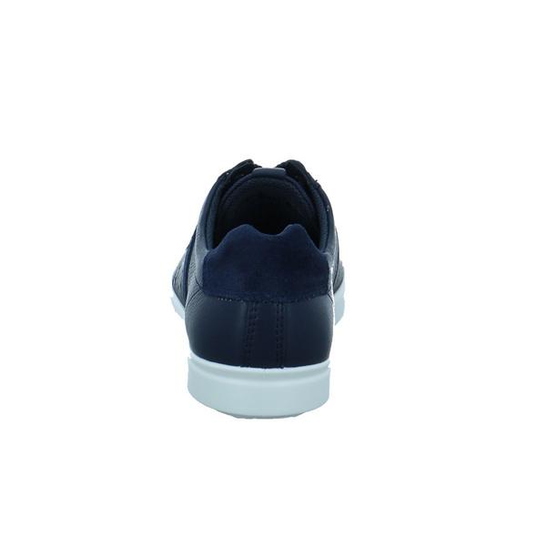 Ecco Damen Leisure Blaue Glattleder Sneaker