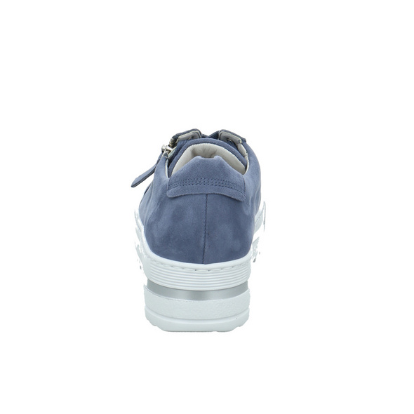 Gabor comfort Damen 66-498-26 Blauer Veloursleder Sneaker