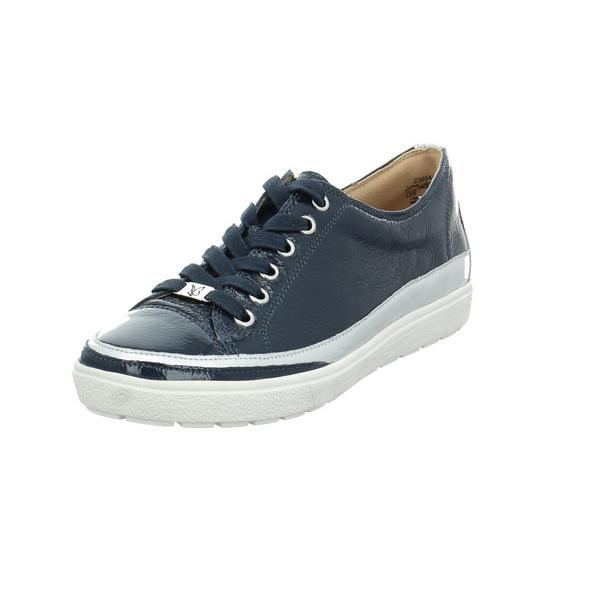 Caprice Damen 23654-815 Blauer Lackleder Schnürschuh