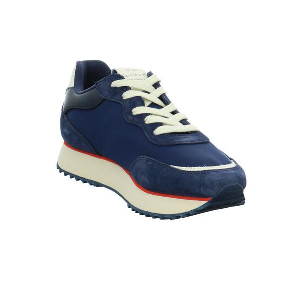 Gant Damen Bevinda Blauer Leder/Textil Sneaker