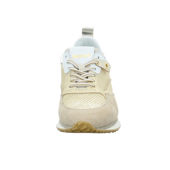 Maripe Damen Frida-1 Alfa Gold/Silberfarbener Glatt-/Veloursleder Sneaker