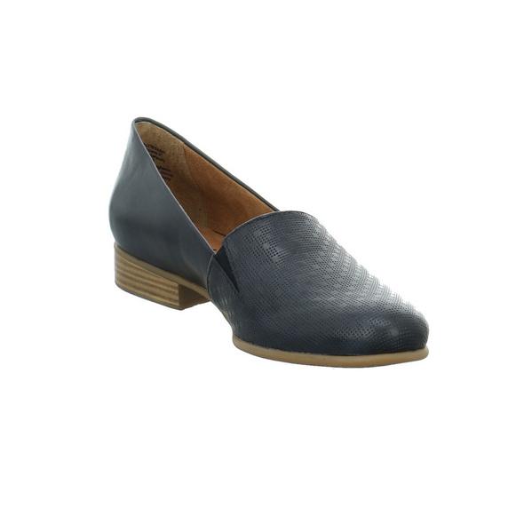 Tamaris Damen 24216-855 Blaue Glattleder Slipper