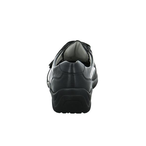Waldläufer Damen Hensa-Soft Schwarze Leder/Textil Slipper