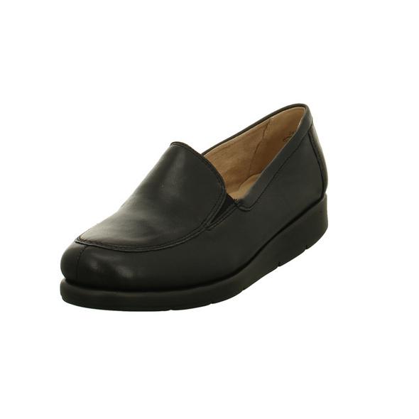 Caprice Damen 24751-022 Schwarze Glattleder Slipper