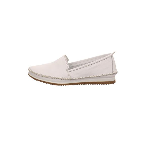 Andrea Conti Damen 1889601-001 Weißer Slipper aus Leder