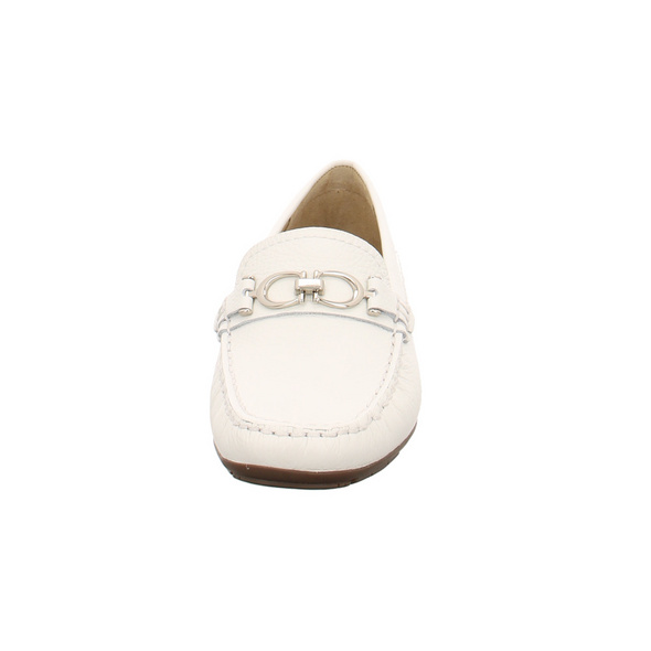 Wirth Damen Lavender 35330-11 Weiße Glattleder Mokassin